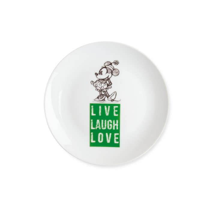 PIATTO DOLCE MINNIE LIVE LAUGH LOVE VERDE D.19