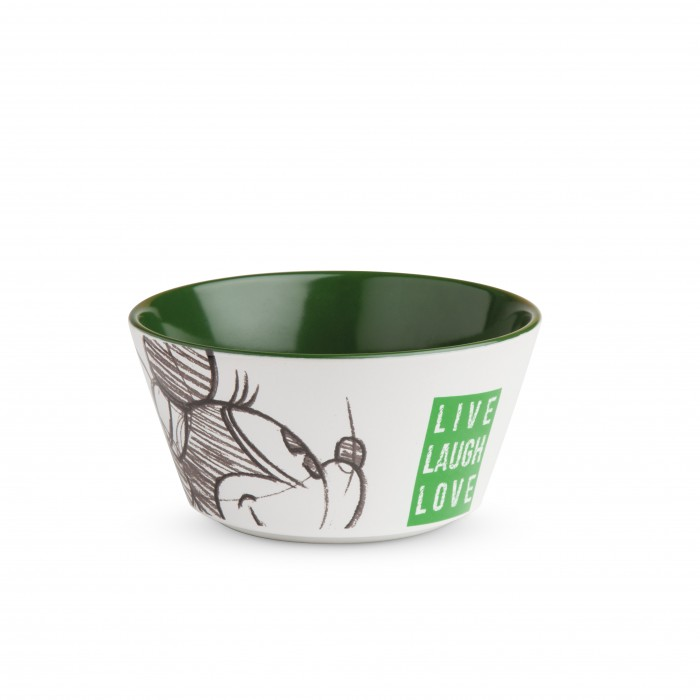 BOWL MINNIE LIVE LAUGH LOVE VERDE ML.520 D.13