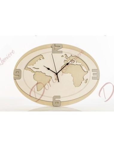 Dim. 45x33cm orologio da parete in legno mondo cuoreitalia