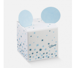 copy of Scatoletta casetta cartoncino michey' star mouse azzurra cm 5x5x5