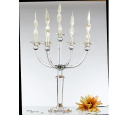 copy of Candelabro 6 fiamme in cristallo 60x90 cm h