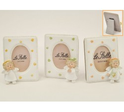 P/FOTO ANGELO RESINA BIANCO 3 ASS. 9,5xh.12 CM *OUTLET* 3345