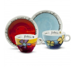 SET 2 TAZZE CAPPUCCINO PAF ROSSO/CEL. PAF12/1S